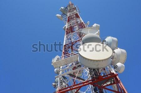 Télécommunications tour inférieur vue ciel bleu affaires Photo stock © pedrosala