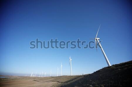 Elektrik üretim açık gökyüzü manzara teknoloji alan Stok fotoğraf © pedrosala