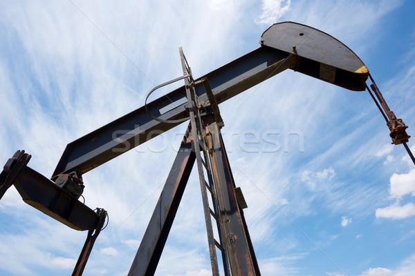 Olajkút LA égbolt munka mező olaj Stock fotó © pedrosala