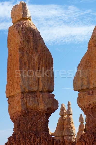 ストックフォト: 峡谷 · 針 · 公園 · 山 · オレンジ · 赤