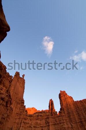 Halász torony tájkép tornyok sivatag Utah Stock fotó © pedrosala