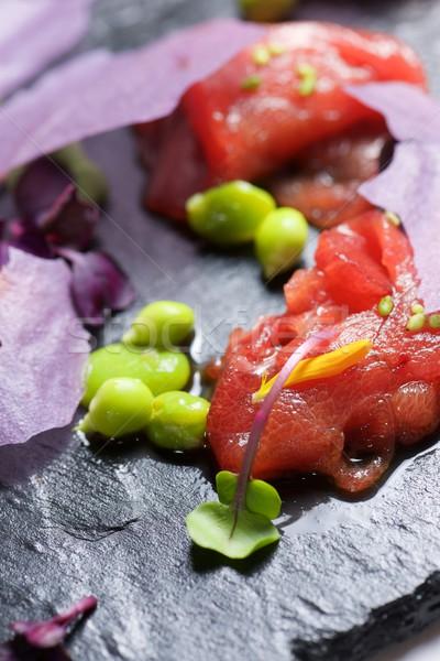 красный тунца сашими продовольствие обеда каменные Сток-фото © pedrosala