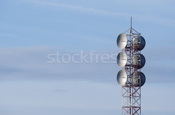 связь башни профиль группа облака Сток-фото © pedrosala