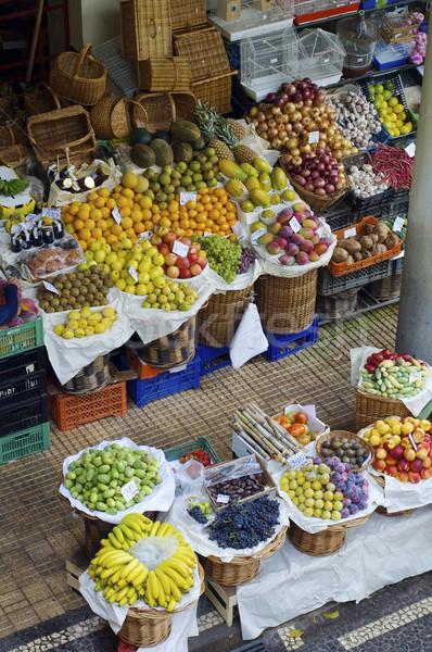 Fruta tropical mercado ver ilha madeira Portugal Foto stock © pedrosala