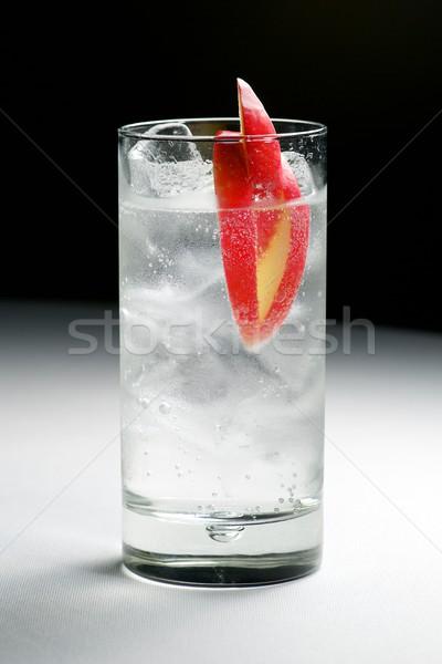 Gin alma felszolgált üveg víz jég Stock fotó © pedrosala