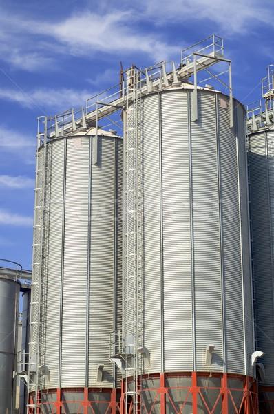 grain silos Stock photo © pedrosala