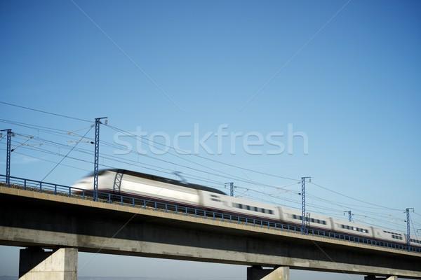 Velocidad tren vista España Madrid Barcelona Foto stock © pedrosala