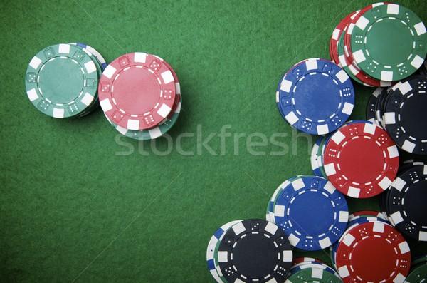 казино фишки казино зеленый деньги текстуры дизайна Сток-фото © pedrosala