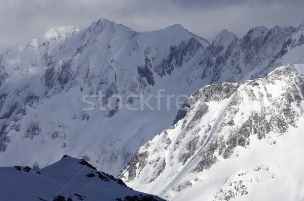 ストックフォト: 山 · 表示 · 山 · フランス語 · 自然 · 雪