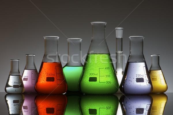 Labor Gruppe Flüssigkeit Farbe Glas Gesundheit Stock foto © pedrosala