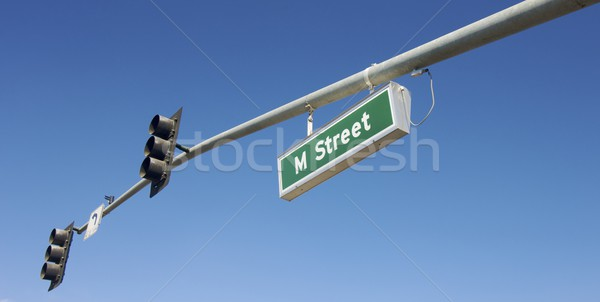 Rua principal assinar semáforo céu cidade rua Foto stock © pedrosala