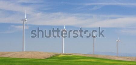 Wind energie elektrische macht productie weg Stockfoto © pedrosala