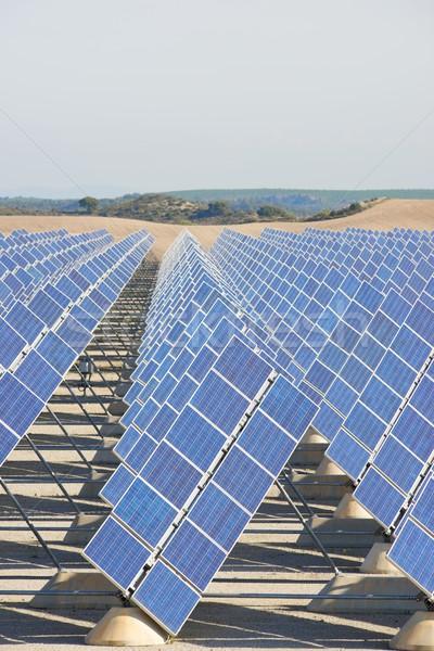 太陽エネルギー 太陽光発電 再生可能な 電気 生産 太陽 ストックフォト © pedrosala