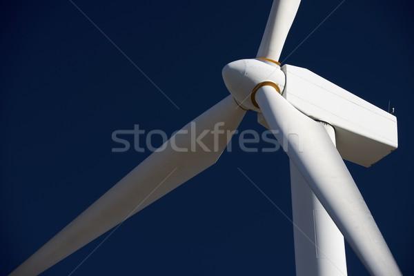 Wind energie windmolen hernieuwbare elektrische Stockfoto © pedrosala