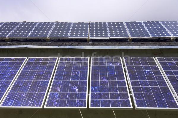 Fotovoltaik elektrik üretim doğa teknoloji gelecek Stok fotoğraf © pedrosala