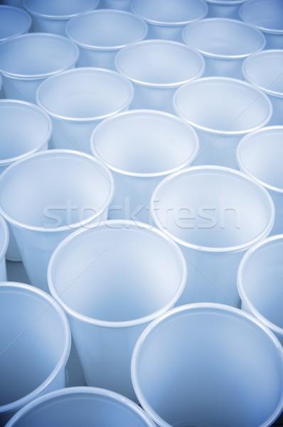 Beschikbaar gerechten witte plastic Stockfoto © pedrosala