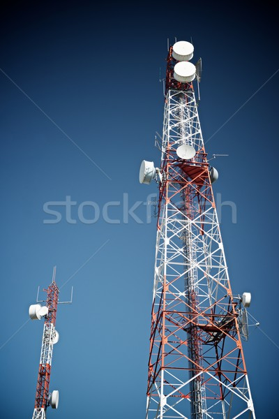 Telecommunications towers Stock photo © pedrosala