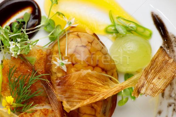 Baranka żywności restauracji mózgu obiedzie tablicy Zdjęcia stock © pedrosala
