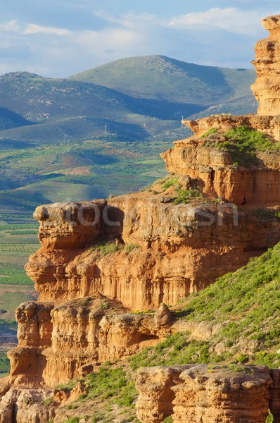 Mud mountains in Spain Stock photo © pedrosala