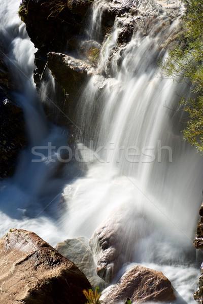 Waterval vallei schoonheid berg rock rivier Stockfoto © pedrosala