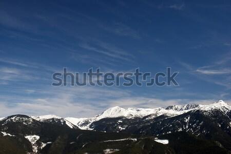 Winter landschap hemel natuur berg Blauw Stockfoto © pedrosala