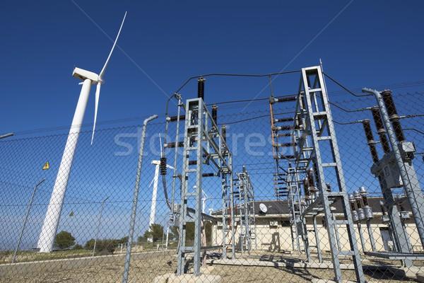 Szél energia gyártás elektomos ipar farm Stock fotó © pedrosala