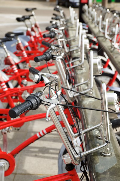 Stock photo: Rental bicycles view