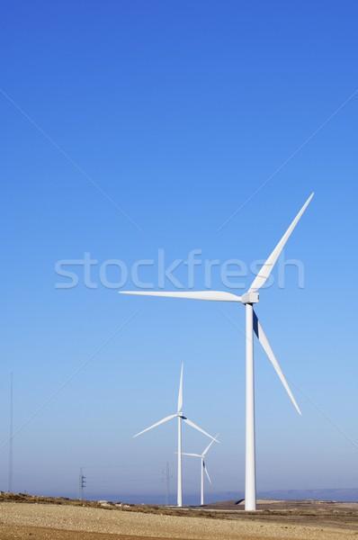 Wind energie elektrische macht generatie Stockfoto © pedrosala