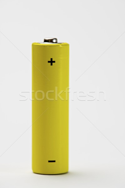 Jaune batterie blanche table signe énergie Photo stock © pedrosala