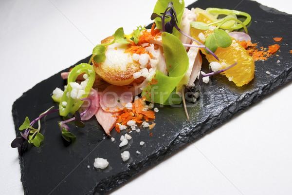 Salada de frango sazonal fruto comida cozinha restaurante Foto stock © pedrosala