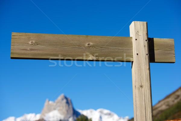 древесины сигнала мнение информации небе синий Сток-фото © pedrosala
