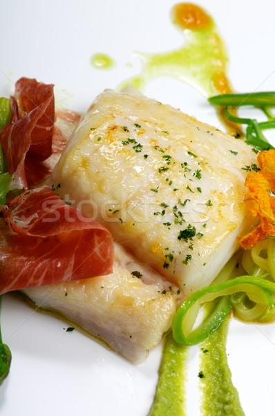 フィレット ハム 野菜 ソース ディナー 食べる ストックフォト © pedrosala