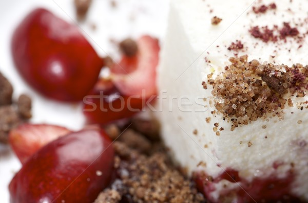 Dessert fromages cerises vin sorbet restaurant Photo stock © pedrosala