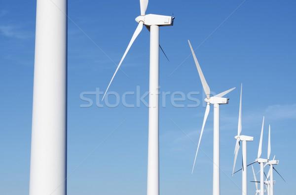 Vent énergie groupe électriques pouvoir production Photo stock © pedrosala