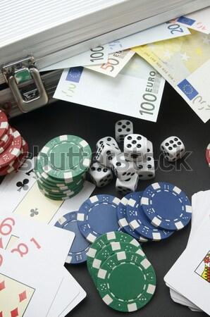 игорный евро фишки казино карт металл Сток-фото © pedrosala