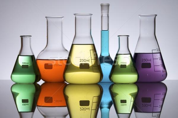 Laboratoire laboratoire équipement liquide fond Photo stock © pedrosala
