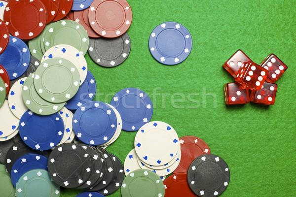казино фишки казино зеленый деньги фон черный Сток-фото © pedrosala