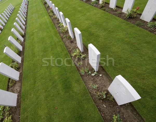 Cementerio británico normandía Francia hierba verde Foto stock © pedrosala