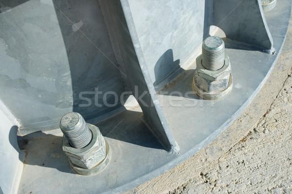 Metal budynku fabryki przemysłowych Zdjęcia stock © pedrosala