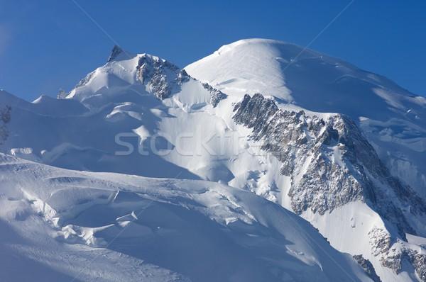 アルプス山脈 フランス 風景 雪 青 石 ストックフォト © pedrosala