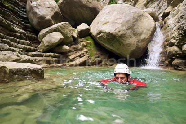 Foto d'archivio: Spagna · canyon · sport · montagna · ritratto · velocità