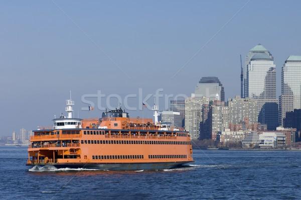 Pont wolkenkrabbers New York USA business hemel Stockfoto © pedrosala
