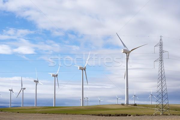 ветер энергии группа возобновляемый электрических производства Сток-фото © pedrosala