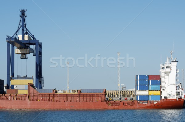 Kikötő teherhajó Andalúzia Spanyolország tenger ipar Stock fotó © pedrosala