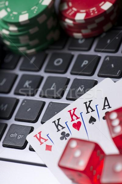 линия фишки казино карт клавиатура клуба весело Сток-фото © pedrosala