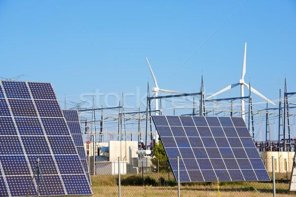 Megújuló energia fotovoltaikus energia gyártás nap természet Stock fotó © pedrosala