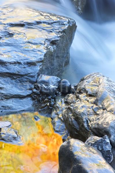 Színes patak hegy völgy szépség kő Stock fotó © pedrosala