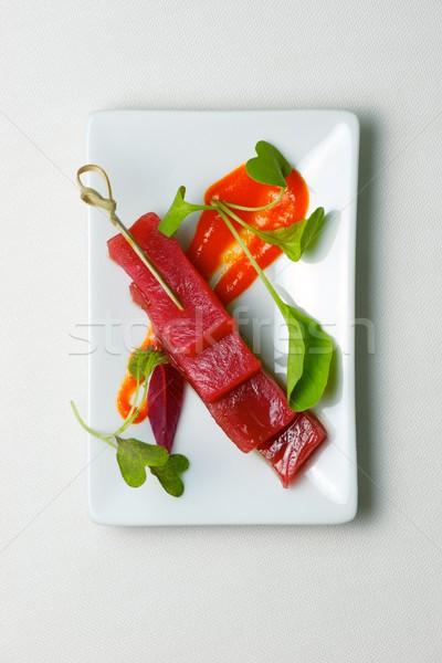 Rosso tonno piccolo bianco piattino pesce Foto d'archivio © pedrosala