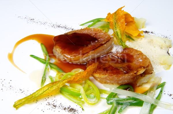グルメ 子牛肉 皿 調理済みの 表示 食品 ストックフォト © pedrosala