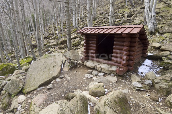 wooden shelter Stock photo © pedrosala